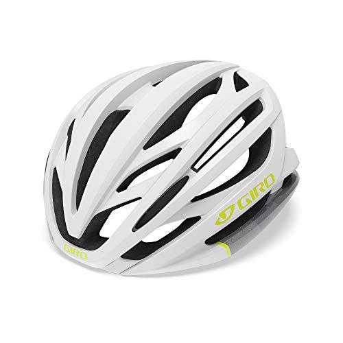 Giro Damen Seyen MIPS Fahrradhelm Road, White/Grey/Citron, S (51-55cm)