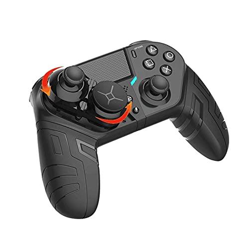 GJFY Mando Inalámbrico para PS4, PS4 Gamepad Joystick para Consola PS4 / Pro/Slim Batería Recargable Incorporada De 1000 Mah, Dos Motores Y Función Deportiva (Negro)