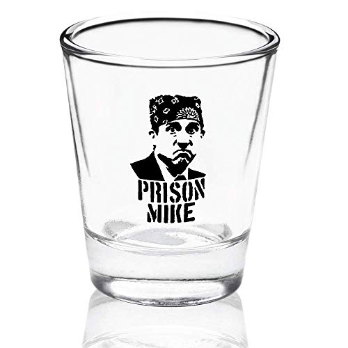 Prison Mike Shot Glass - The Office Merchandise | Funny Michael...
