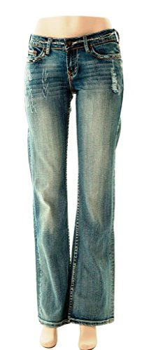 Cowgirl Tuff Western Jeans Womens Tuff Cookie 31 Long Light TUFFCA