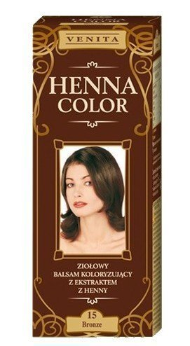 Henna Color 15 Braun Haarbalsam Haarfarbe Farbeffekt Naturhaarfärbemittel Henne Öko