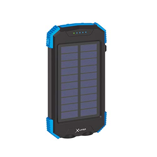 Xlayer Powerbank Plus Solar Wireless Black/Blue 10000mAh Smartphones/Tablets