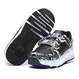 ZGRNB Cartable Trolley Filles Garçons Chaussures à roulettes 1Roue&2 Roues Respirant Patins à roulettes pour Unisexe Enfants Retractable Basket a Roulette