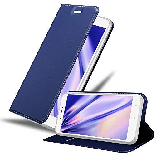 Cadorabo Funda Libro para Xiaomi Mi MAX 2 en Classy Azul Oscuro - Cubierta Proteccíon con Cierre Magnético, Tarjetero y Función de Suporte - Etui Case Cover Carcasa