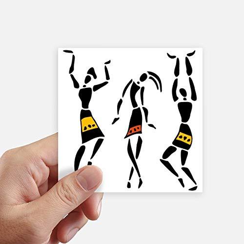 DIYthinker Autochtone Noir Totems Primitive Afrique Quadrille Autocollants 10CM Mur Valise pour Ordinateur Portable Motobike Decal 8Pcs 10cm x 10cm Multicolor