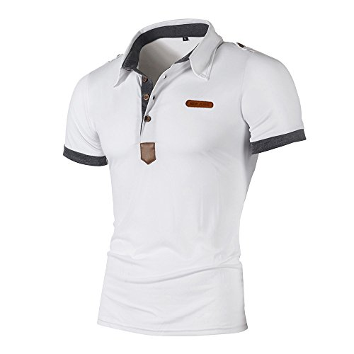 serliy😠Herren Poloshirt Kurzarm Einfarbig Basic Polohemd Sommer T-Shirt Men's Polo Shirt Slim Fit Men's Piqué Polo Shirts