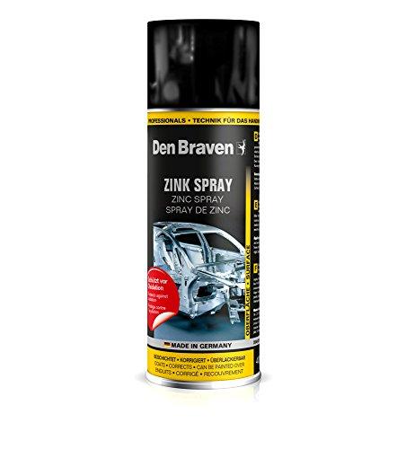 Den Braven HTS341720400 Zinkspray 400ml (beschichtet, korrigiert, überlackierbar), zuverlässiger Korrosionsschutz, leistungsstarke Grundierung Made in Germany, Set of 12