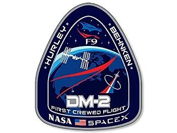 DM-2 First Crewed Flight Sticker  f9 Dragon Mission spacex Space x Logo NASA
