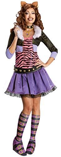 Rubie's Offizielles Damenkostüm Monster High Clawdeen Wolf Deluxe Erwachsenenkostüm – Größe L