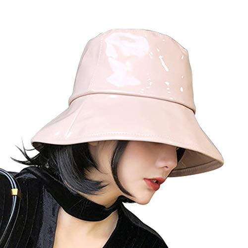 Women's Rain Hats Waterproof Rain Hat Wide Brim Bucket Hat Rain Cap Foldable and Portable,Easy to Carry (Khaki)