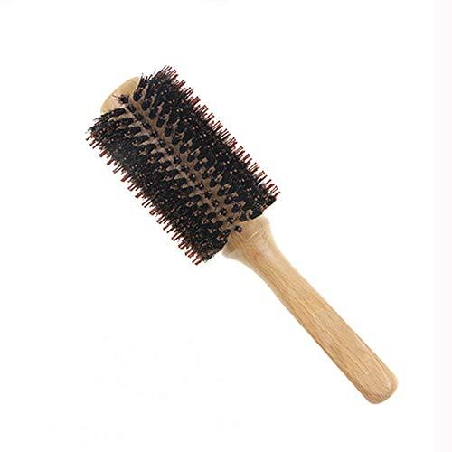 CHAN Nettoyage Cheveux naturels Brosse Douce Barbe Peigne Ovale avec Manche en Bois Barber Pinceau Poudre pour Cheveux cassé Nettoyage Outil