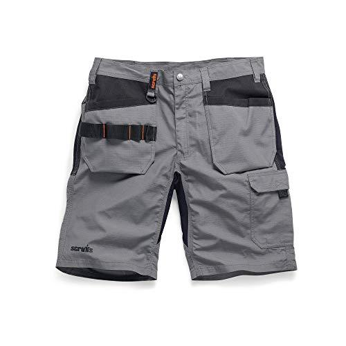 New SCRUFFS LINE **** Trade Flex Holster Shorts Work WEAR Graphite Grey Size 30' - 40' Waist (32' T54650)