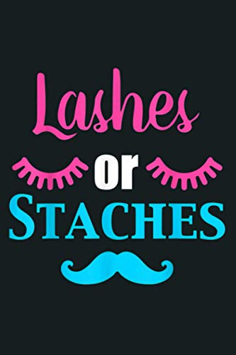Lashes Or Staches Gender Reveal Party Supplies: Notebook Planner - 6x9 inch Daily Planner Journal, To Do List...