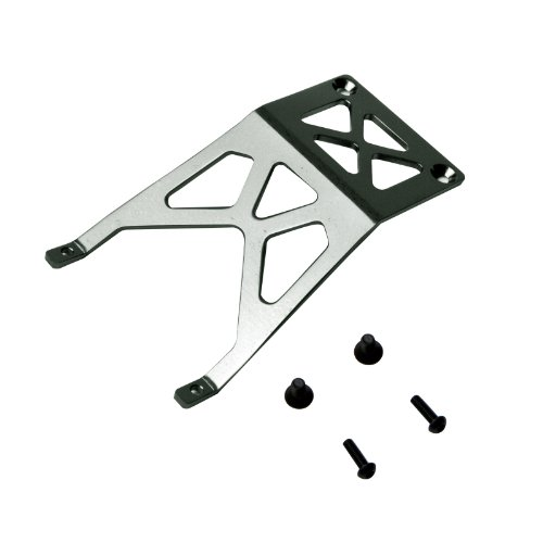 Atomik RC Alloy Front Skid Plate, Grey fits The 1/10 Stampede and Other Models - Replaces Part 3623