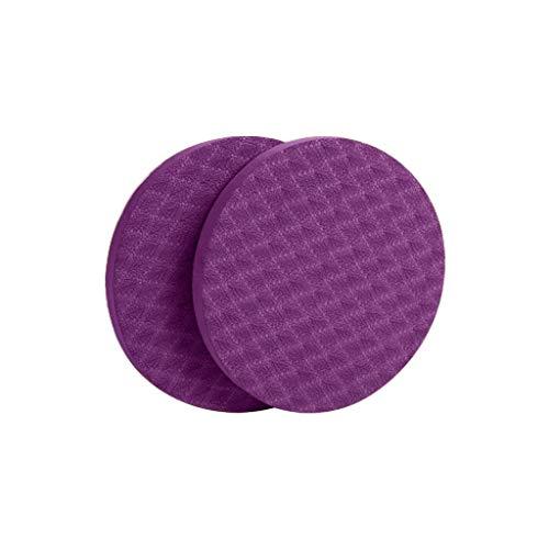 CRE87 Yoga Kissen 1 Paar Kniekissen für Yoga- schützt die Knie- Hände- Handgelenke und Ellbogen- umweltfreundlich und leicht- Knieschoner Ellenbogen Schutz Sport Zubehör(Marine)