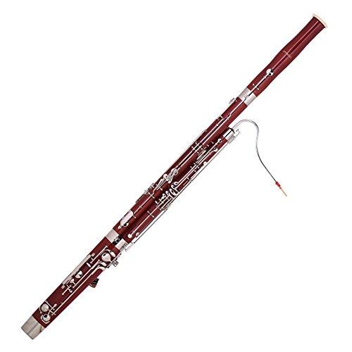 Ammoon C Clave fagot madera de arce cuerpo Woodwind instrumento con Reed guantes gamuza de limpieza y funda de transporte