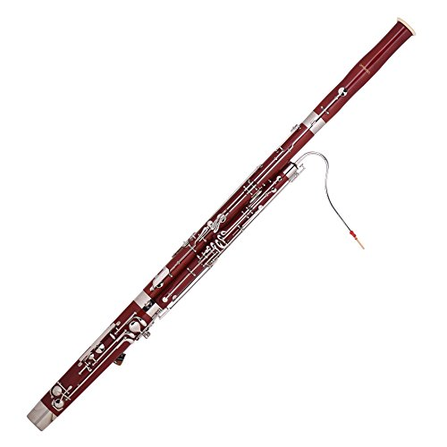 ammoon C Key Bassoon Maple Wood Body Woodwind Instrument with Reed Gloves Cleaning Cloth Carrying Case