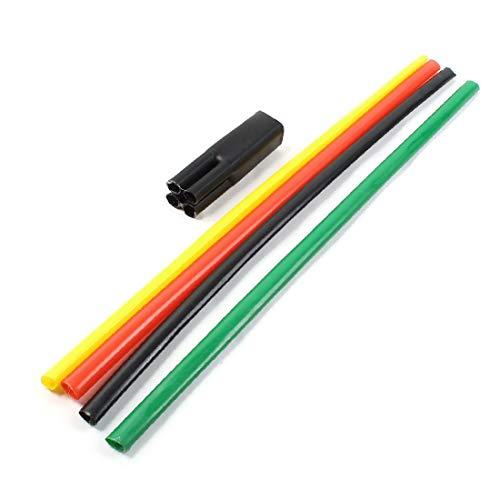 X-DREE 1KV 10-16mm2 Multi Color Buje termoencogible Buje de arranque de disipación térmica de 4 vías (1KV 10-16mm2 multi couleur manchon thermo-rétractable à manchon rétractable 4