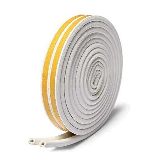 隙間テープ, WISH SUN 【超実用!高気密性!節電に】隙間風防止 騒音対策 虫侵入防止 窓 棚 スキ用テープ D型 2本入り