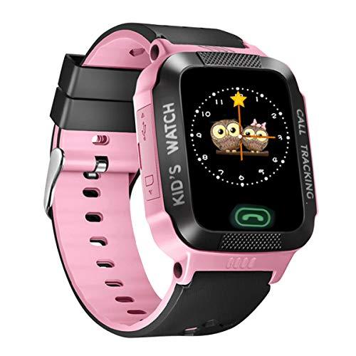 Esenlong Reloj inteligente para niños y niñas, pantalla táctil HD, con cámara, juegos, alarma, reproductor de música, para niños, adolescentes, estudiantes, cámara SOS, LBS y posición de localización.