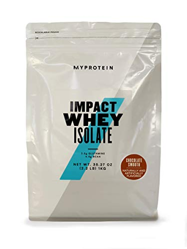 Myprotein Impact Whey Protein Powder. Muscle Building Supplements For Everyday Workout With Essential Amino Acid And Glutamine. Vegetarian, Low Fat And Carb Content - Chocolate Smooth, 1kg