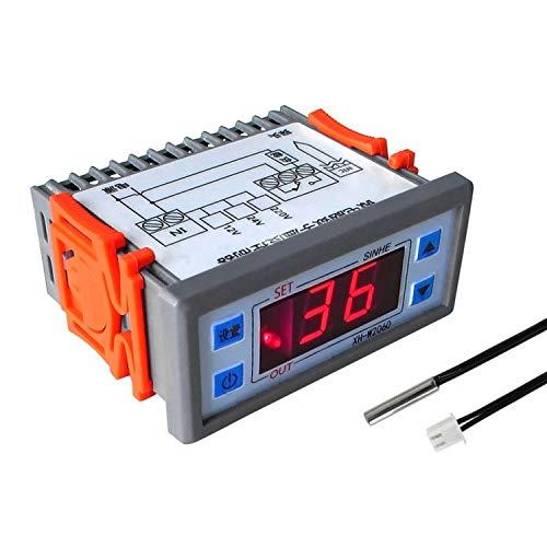 Controlador de temperatura digital XH-W2060 220 V Control de temperatura del termostato de almacenamiento en frío del congelador del gabinete del termostato integrado Termostato de una sola etapa de 2