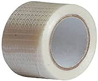 C&W Cricket World High Grade Cross Safety Anti Crack Water Proof Protective Glass Fiber Reinforced,Crack Repair and Edge Protection,Prolongs Life of Bat Cricket Bat Fiber Repair Tape Roll