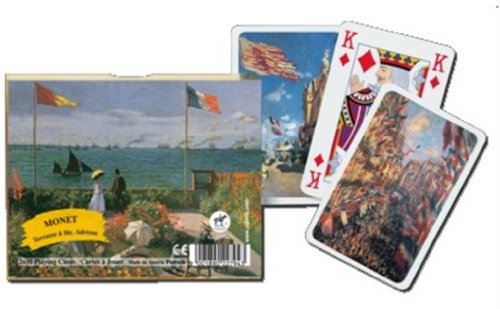 Gibsons Games Piatnik Monet Terrace Playing Cards 2Deck
