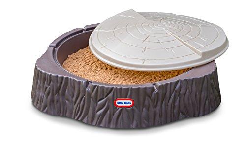 Little Tikes 644658E3 Sandkasten mit Deckel, Baumstamm Woodland
