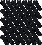 Wholesale Ankle Socks for Men, Low Cut No Show Casual Basic Value Bulk Pack (480, Black)