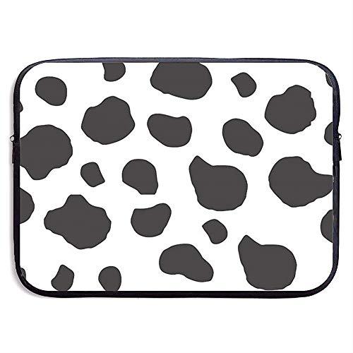 Laptop Sleeve Case Cow Print Notebook Bag Laptop Shoulder Bag Protective 15 Inch
