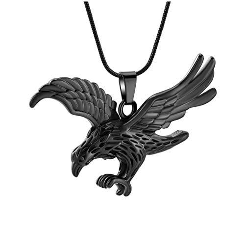 Wxcvz Colgante Cenizas Collar De Recuerdo De Cremación De Águila De Acero Inoxidable con Colgante Conmemorativo para Recuerdo De Urna De Cenizas