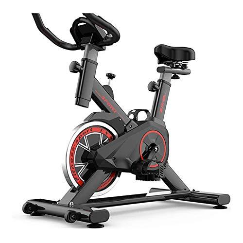 JJSFJH Bicicleta de ejercicio Home Fitness bicicletas de spinning entrenamiento aeróbico ejercicio de bicicletas for quemar grasa, con manillar ajustable y asiento, bajo nivel de ruido Sistema de corr