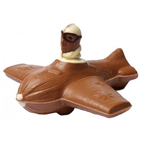 04#030621 Schokoladen Flugzeug, Vollmilch mit Pilot, Geschenke, Airport, Flieger, Jet, Geschenk, NEU'