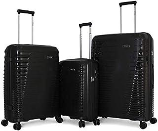 تيتان حقائب سفر بعجلات للجنسين 3 قطع ، اسود ، 163071