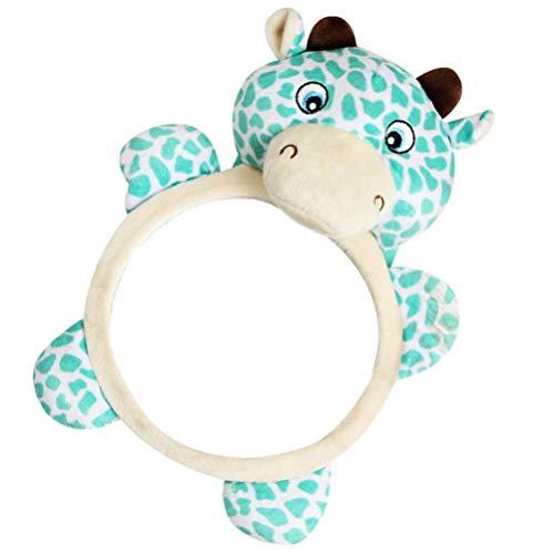 TOYANDONA Baby Bauch Zeitspiegel Spielzeug Entdecken Und Spielen Aktivität Spiegel Rentier Giraffe Design Baby Auto Spiegel Säugling Interaktive Spiele Spielzeug