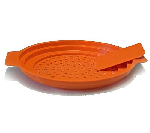 Colino per Spätzle con raschietto e istruzioni Spätzle-Profi Gourmet di all-around24 (lingua italiana non garantita), Plastica, Orange, 1