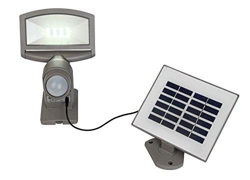 Eco Light Solar lámpara de pared Sunshine con panel solar, detector de movimiento, Giratorio y orientable, IP44P 9016SI