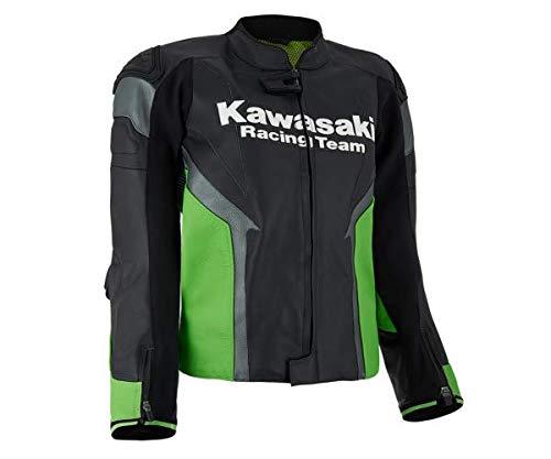 Kawasaki KRT Herren Lederjacke schwarz/grün Größe XL