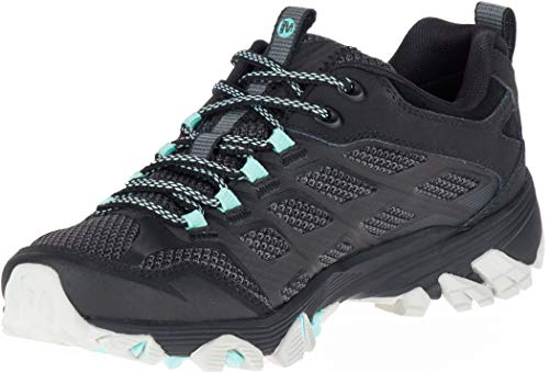 Merrell Women's Moab Fst Gtx Low Rise Hiking Boots, Black (Black Teal), 4.5 UK 37.5 EU