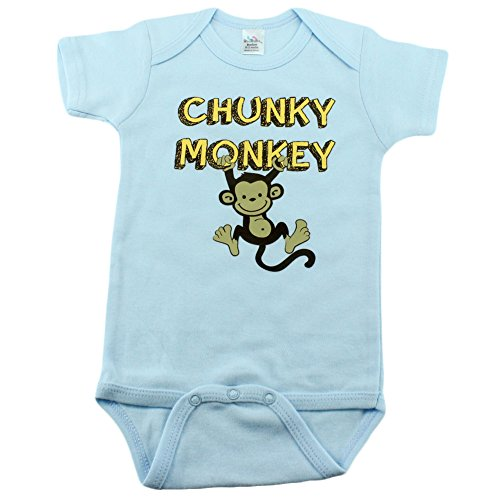 Nursery Decals and More Baby Boys Bodysuit with Monkey, 0-3 Month, Chunky Monkey