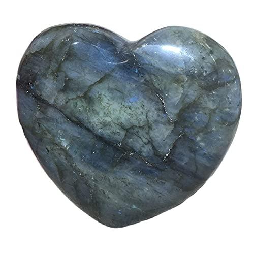 W.Z.H.H.H Crystal Rau Natürliche Labradorit Steine Kristalle Geschenk Reiki Heilung Edelsteine Palm Chakra Heilung Quarz Herz Ornament Heilende Kristalle