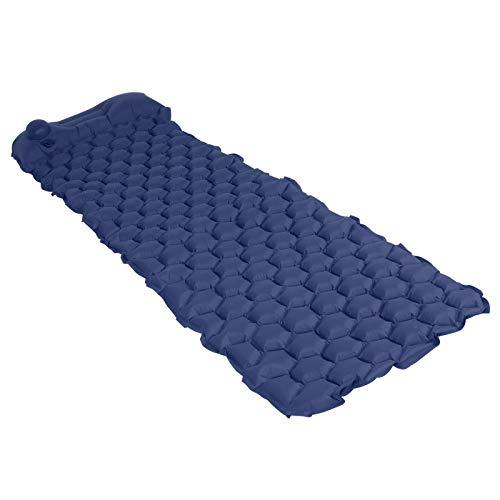 Ufolet Colchón de Aire, colchoneta Impermeable compacta Ultraligera, Aire para Acampar con Mochila(Navy Blue)