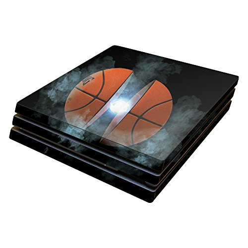 MightySkins Skin Compatible with Sony PS4 Pro Console - Basketball Orb   Protective, Durable, and Unique Vinyl Decal wrap Cover   Easy to Apply, Remove, and Change Styles   Made in The USA