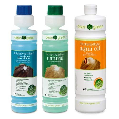 clean & green Nachpflege-Set für geölte Korkböden