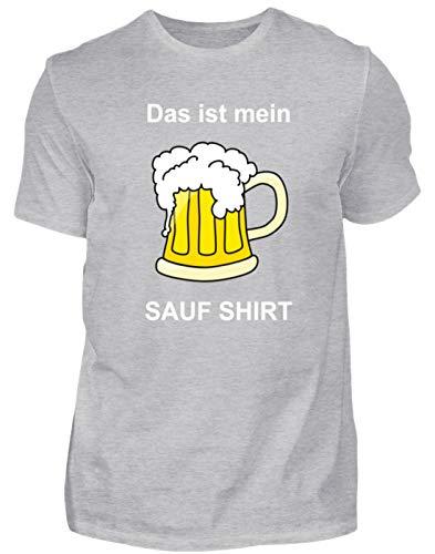 Dat ist Mein Sauf Shirt! Bierglas Bier Oktoberfest - eenvoudig en grappig design - heren shirt