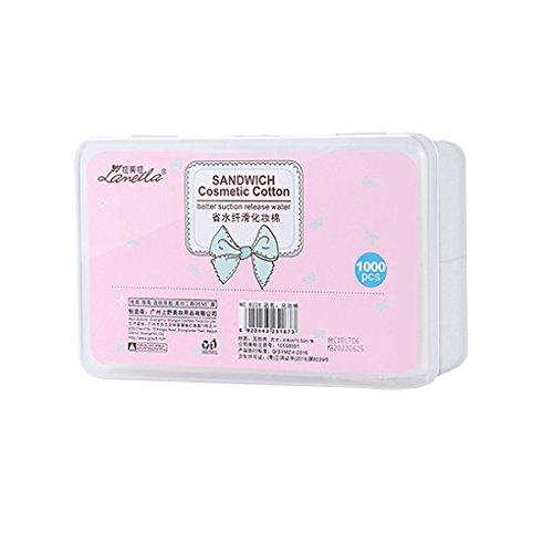 F-blue 1000pcs kosmetische Non-Woven-Baumwolle Lidschatten Mascara Make-up Entferner Baumwolle Gesichtsreinigung Quadrat Pad