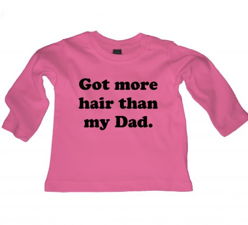 Ice-Tees - T-shirt - Col Ras Du Cou - Manches Longues - Bébé (fille) 0 à 24 mois Rose Rose