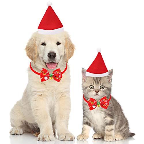 Bandana per Cani di Natale,Bandana per Animali Domestici,Pet Bandana per Cane e Gatto,Bandana per Cane Triangolare Lavabile Reversibile,Natale Cane Bandana Sciarpa & Cappello Natale (A)