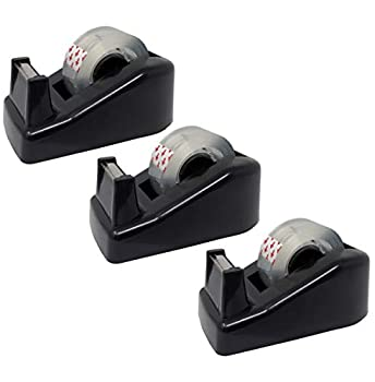 Clipco Premium Small Tape Dispenser with Tape Included  Pack of 3